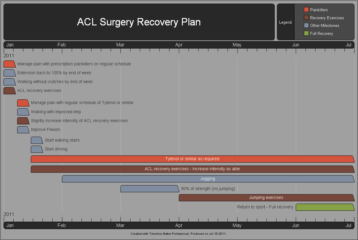 Medical Recovery Timeline