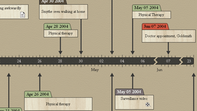 Timeline Maker Sample - Insurance Investigation Timeline