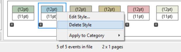 Timeline Maker Color Palette - Delete Style