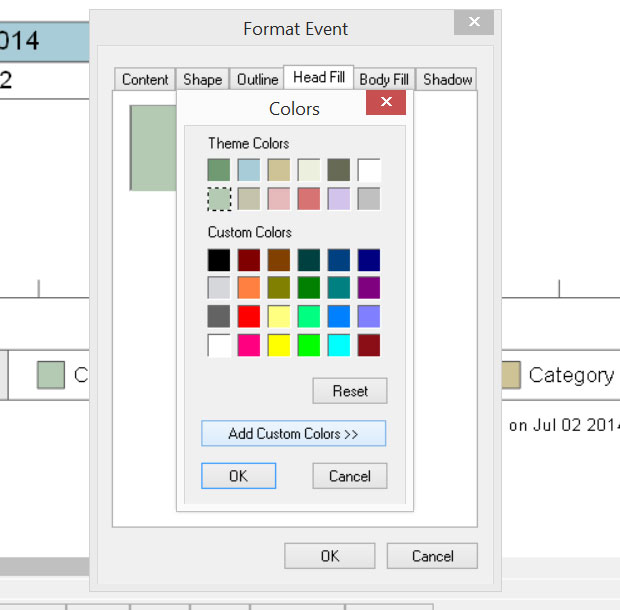 Timeline Maker Color Palette - Colors