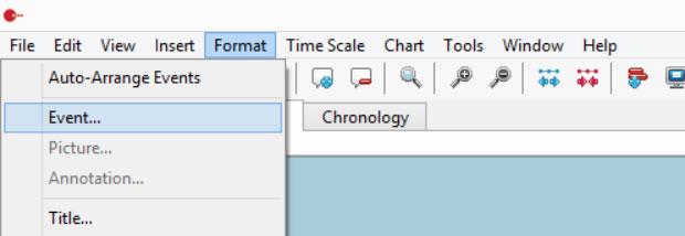 Timeline Maker Color Palette - Format Menu
