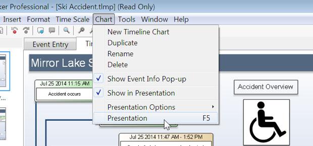 Timeline Presentation - Built-in Presentation Mode